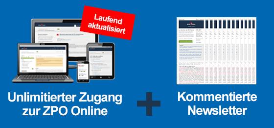ZPO Online Kurzkommentar